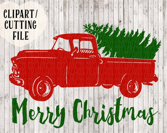 Christmas Truck Svg Merry Tree