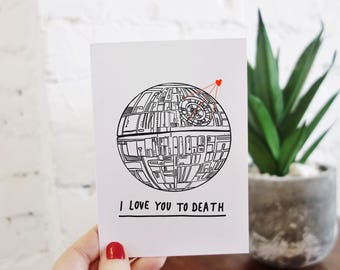 Star Wars Death Star Valentine's Card