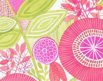 No.8, ORIGINAL watercolour, abstract floral, botanical, art, wall art, home decor