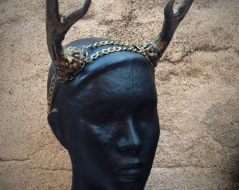 Antler Chain Headband A unique antler crown for deer or fawn costumes & Deer headpiece   Etsy