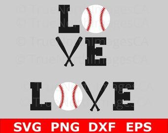 Baseball SVG / Love Baseball SVG / Softball SVG / Baseball Vector / Baseball Clipart / Baseball svg Files / Baseball Cricut /  Silhouette