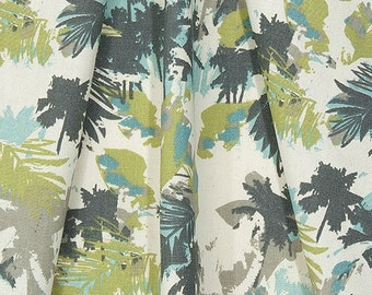 Designer Tropical Palms Coastal Home Decor Fabric By The Yard Cotton Drapery  Curtains Or Upholstery Fabric