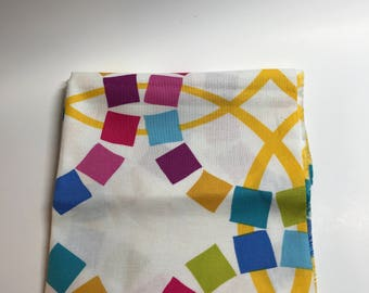 Fat Quarter - Cotton Fabric - Colorful Geometric Print
