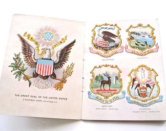 Chase & Sanborn's Tea Advertising Ephemera State Seals