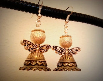Angels, choice of color earrings