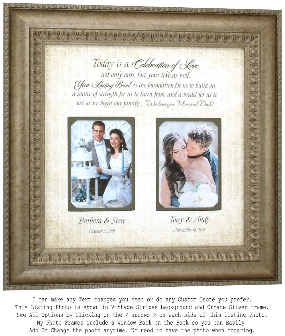 Personalized Wedding Photo Frame Mother of the Bride Gift