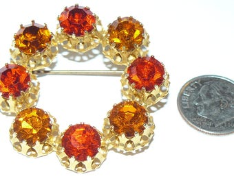 Vintage Rhinestone Brooch  Made In Austria