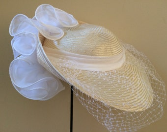 Nordstrom Hat with Organza Ruffle