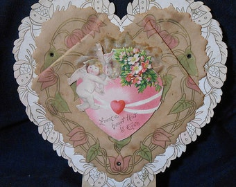 Early Victorian Parchment Valentine