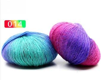 2 - Rainbow Wool Anti-pilling Yarn Skeins - #14