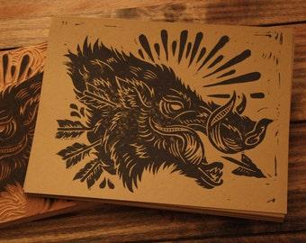 Bush Hog - Alternative Block Print