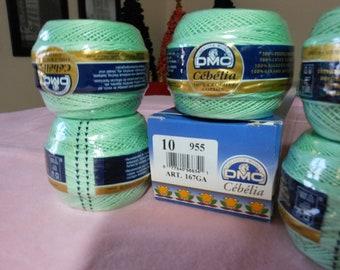 DMC Cebelia Light Green crochet thread size10