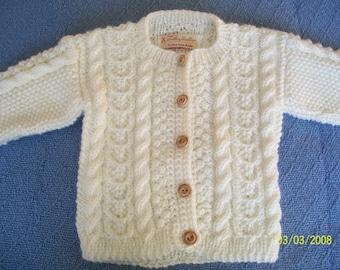 Child's  Aran Cardigan Sweater
