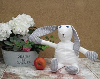 Lovely hare in grey , made by myself.