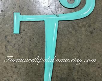 Initial letter door hangerletter T door hangerpersonalized door hanger monogramed letter door hanger wooden letter door hanger wall art & Letter w door hanger | Etsy