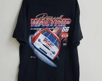 BIGSALE vtg NASCAR route 66 Darrell waltrip t shirt large