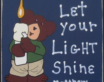 Let Your Light Shine - Original Hand Painted Wall Hanging