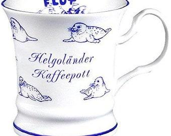 Porcelain mug, coffee pot, mug, mug, Helgoland maritime *