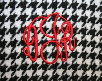 Personalized Monogrammed Custom Cashmere Feel Scarf Houndstooth - FREE MONOGRAM