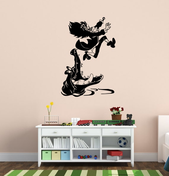 Peter Pan\'s Captain Hook Vinyl Wall Decal Childrens Room