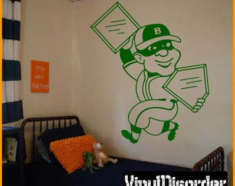 Baseball Player Vinyl Wall Decal or Car Sticker - BaseballMC001ET