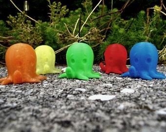 PLA octopus, 3D printed octopus, octopus cupcake topper, 3D printed cake topper, 3D PLA octopus, 3D printed octopus