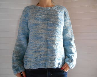 Sky blue sweater gradient iridescent.