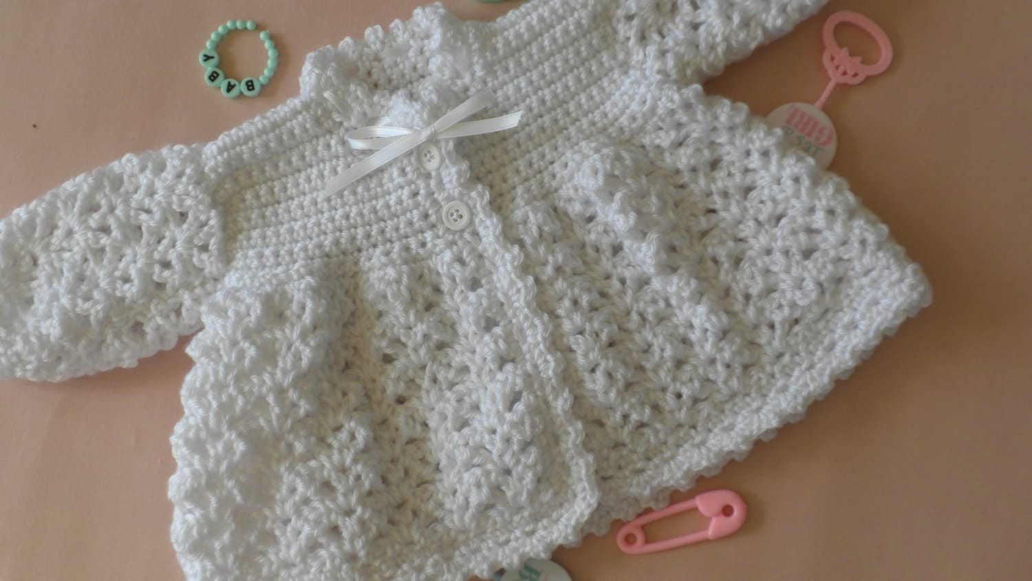 Finest Christening sweater baptism sweater white baby sweater ND21