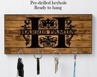 Personalized/Monogram Key Hanger, Key Holder, Wall Key Holder, Key Holders, Personalized Gift, Home, Housewarming Gift, Wedding Gift