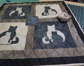 Personalized Quilted Catnip Blanket