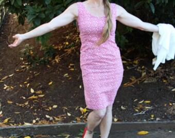 60's Sleeveless Shift Dress - Vintage Sun Dress - Wiggle Dress - Handmade Dress - 1960's Sun Dress - Summer Dress - Classic Vintage