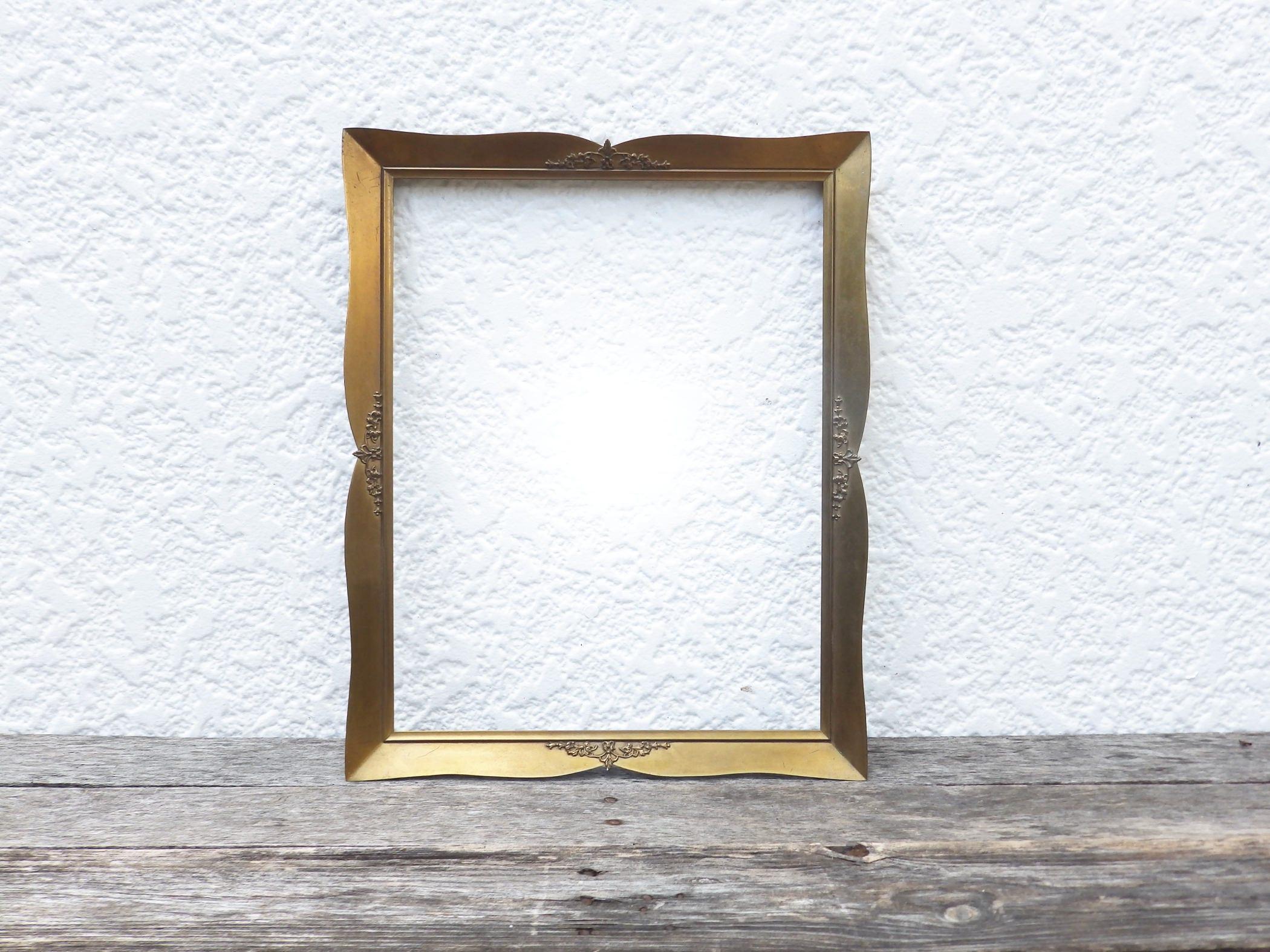 11x14 Ornate Gold Metal Frame - Brass Antique Picture Frame - Art ...
