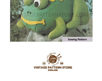 1980s Frog sewing pattern - Vintage PDF Sewing Pattern 1658