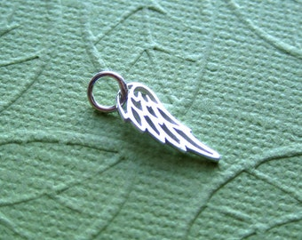 Small Sterling Silver Angel Wing Charm