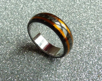 Carbon copper and stainless steel ring