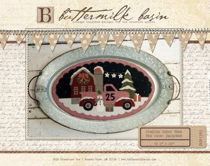 "Pattern: Vintage Truck Thru the Year - December ""Christmas"" by Buttermilk Basin"