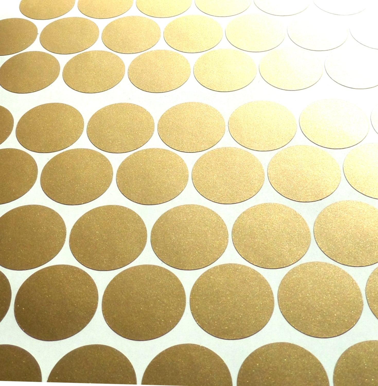 100 Matte Gold polka dots stickers circle vinyl decals