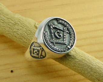 Freemasons Ring - Sterling silver 925 - made in Italy