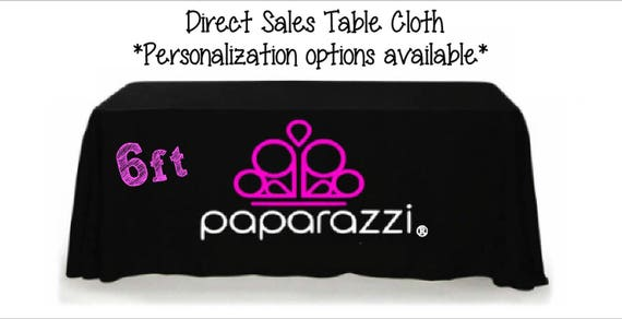 Complete 6ft Paparazzi Event Table Cloth