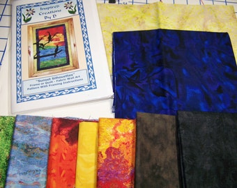 Sunset Silhouettes  Art Quilt Pattern Kit