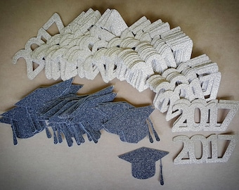 Graduation Party Decorations / 100 Count / Custom Colors And Year / You Choose / Graduation Confetti / Graduation Party Ideas