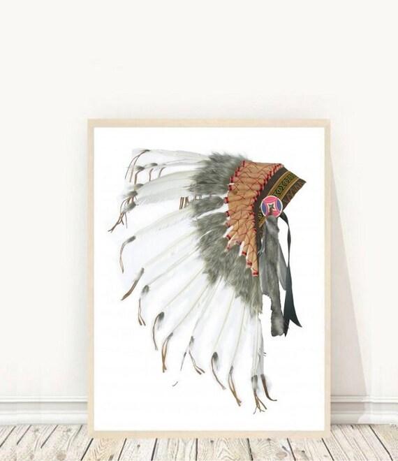 Native American Headdress Headdress Print Printable Art