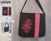 Treble clef bag flap for ...