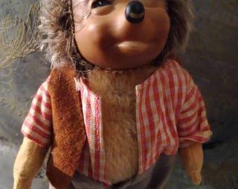 Antique, Vintage, Mecki, Hedgehog, Hedgehog, father, Fiftees, fifties, 16 cm