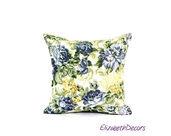 Designer Floral Print Throw Pillow Cover, Decorative Pillow, Toss Cushion Cover, Throw Pillow, Pillow Case