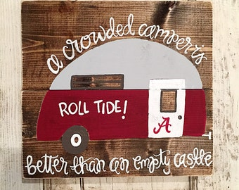 Vintage Camper | Alabama | Roll Tide | Tailgating | Home Decor
