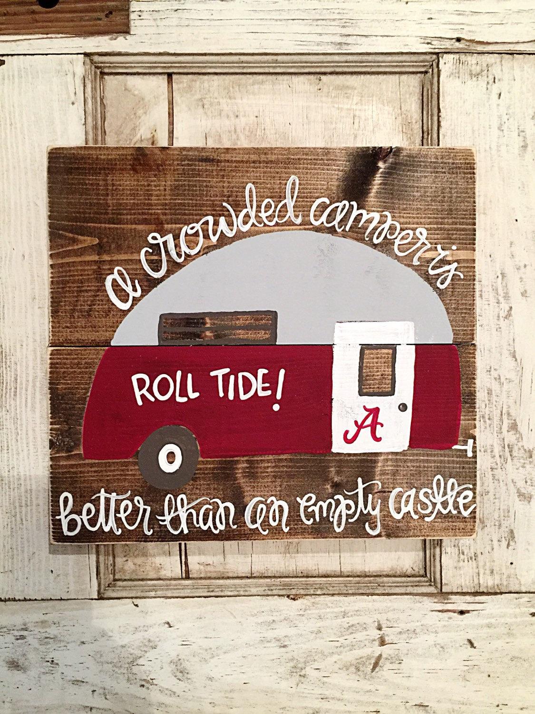 Vintage Camper Alabama Roll Tide Tailgating Home Decor