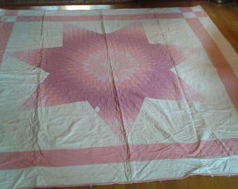 Lovely Antique Handstiched Star Quilt