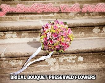 Bridal Flowers Necklace, Your bridal bouquet Pendant, Preserved Flower, Bridesmaid Pendant, Bride Necklace, Wedding Jewelry, Boho Wedding