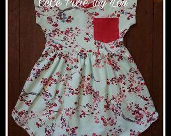 Girl's Pearlie short sleeve summer dress sizes 1-12 years